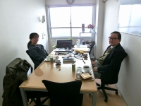 金子社長(右)とデザイナー大竹様(左)
