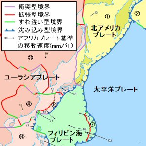 01a 300 tectonic plates around J
