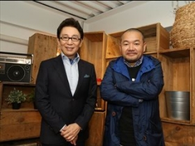 古舘アナと大根監督@NHK