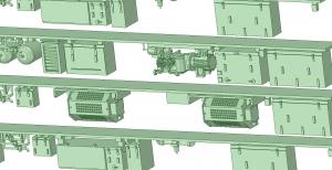 9000系更新車 床下機器【武蔵模型工房 Nゲージ 鉄道模型】3