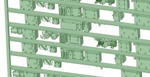 9000系未更新車 床下機器【武蔵模型工房 Nゲージ 鉄道模型】4