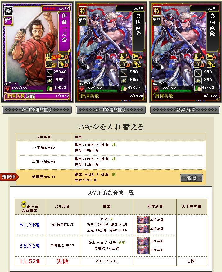 カード合成 - スキル追加合成 - 戦国IXA(2)