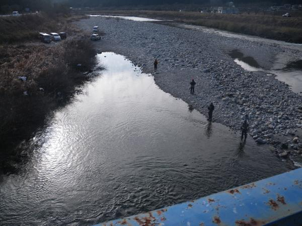 板取川上牧橋付近
