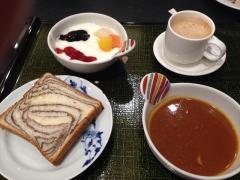 阿蘇市の内牧温泉・阿蘇プラザホテルの朝食。