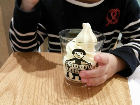 資生堂パーラーのソフトクリーム