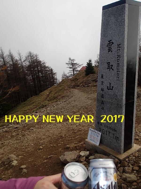 2017年賀 雲取山