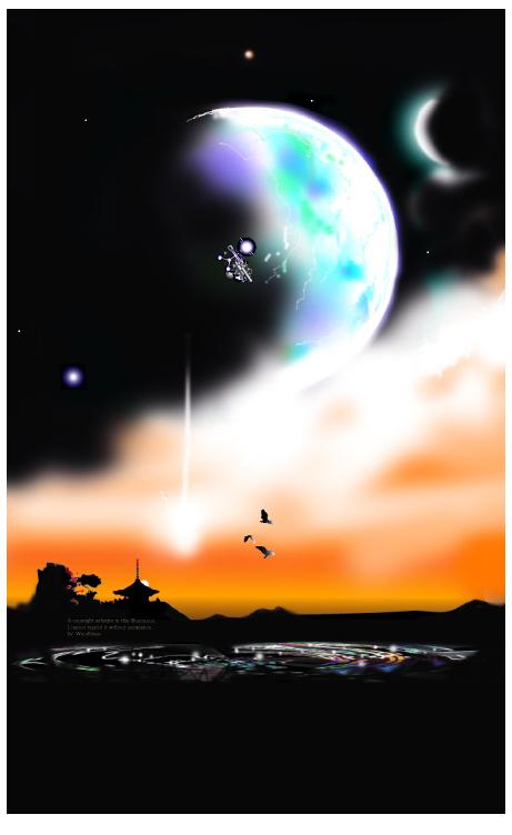 宇宙を描く原画2