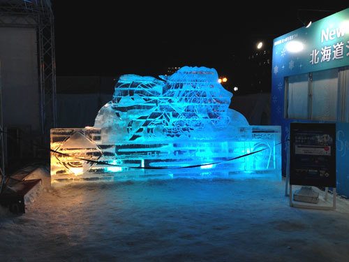 11丁目雪ミクコーナー氷像