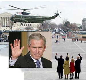 ブッシュ退任式1