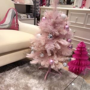クリスマスツリー ピンク