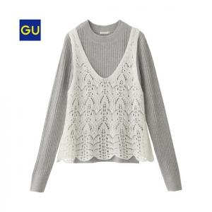 キャミレイヤードセーター
