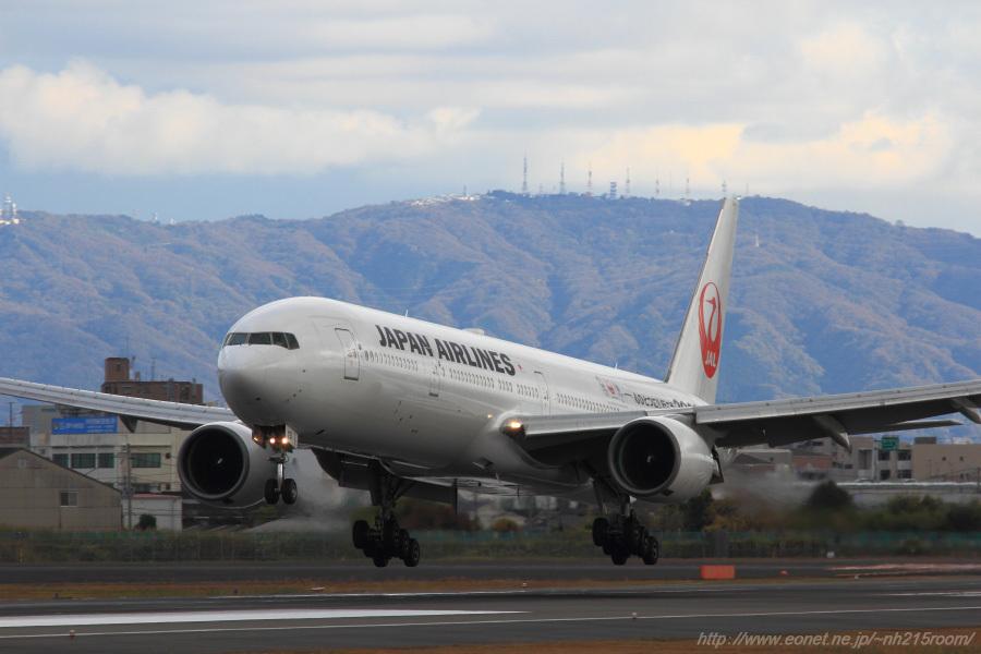 JAL B777-346 / JA751J@伊丹スカイパーク南駐車場