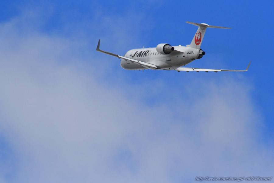 J-AIR CRJ-200ER / JA207J@猪名川土手