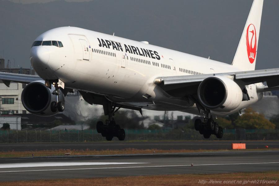JAL B777-346 / JA8945@伊丹スカイパーク南駐車場