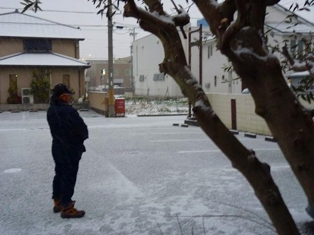 雪景色 店先