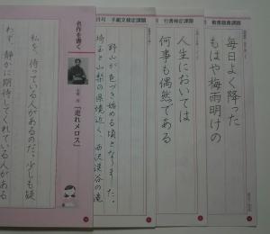 ペン部お手本見本(内容)