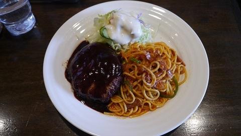 札幌市 カリー軒 「スパゲッティー イタリアンハンバーグ」