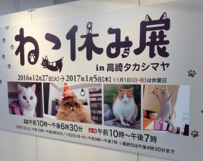 20170104ねこ休み展