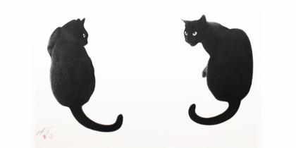 高橋行雄絵画展 気まぐれな猫たちの日常。