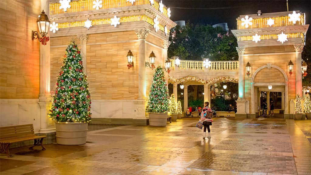 ウォーターフロントパーク 雨上がりのクリスマス(プレイス)(アメリカンウォーターフロント)(東京ディズニーシー)