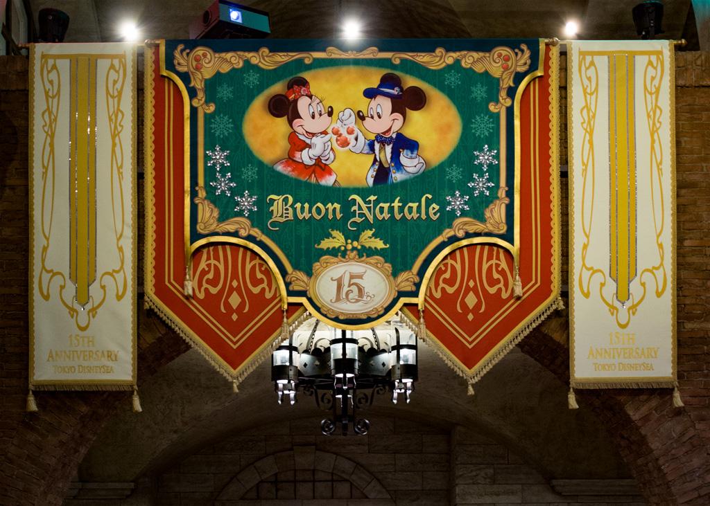 ミラコスタ通路 2016クリスマスタペストリー(プレイス)(メディテレーニアンハーバー)(東京ディズニーシー)