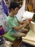 夏中学生池田木工
