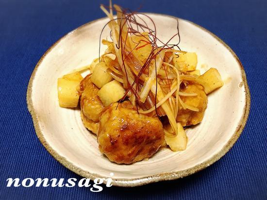 長芋と肉団子の甘酢あんかけ