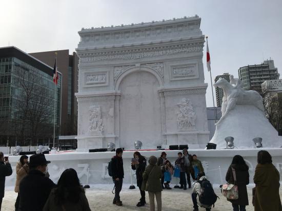 雪まつり2017④~凱旋門