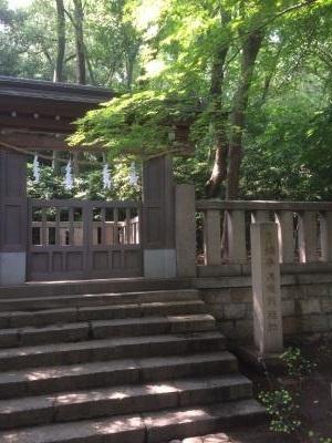 湊川神社 楠公の忠節地(最期の場所)入口
