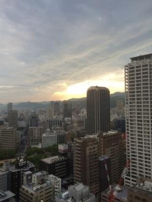 神戸で奇門遁甲の特別講義 懇親会会場からの夜景