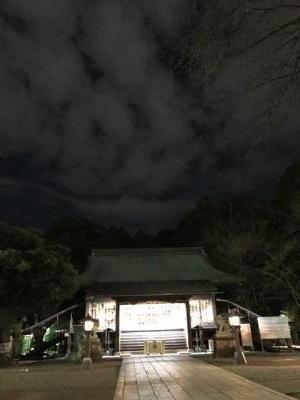 宇都宮二荒山神社 夜 神秘的な本殿