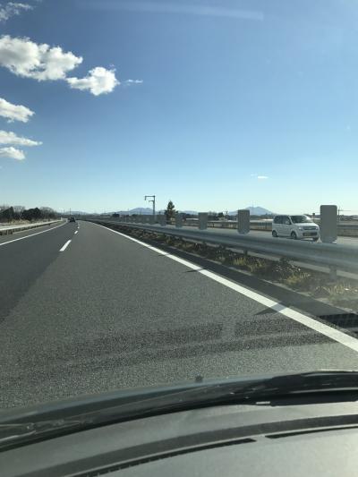 北関東道 筑波山を見る