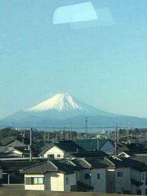 東北新幹線から大宮から見れる富士は美しい