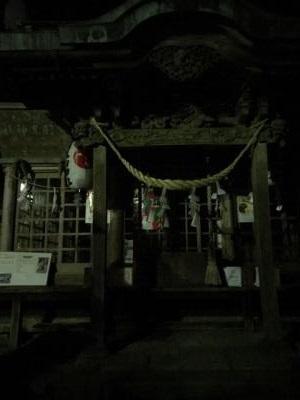 宇都宮 羽黒山 夜の本殿