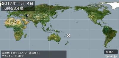 南太平洋での大地震、また喫緊、大きな地震との相関関係3