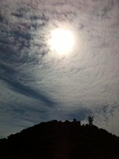 筑波山山頂 空が近い