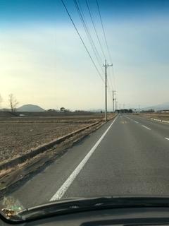 羽黒山を遠望 塩谷付近