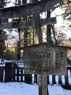 日光最強霊地 滝尾神社 三本杉 正面