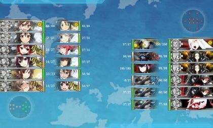 艦これ 2017年冬イベント E-2 Boss 最終 (2017年2月13日)