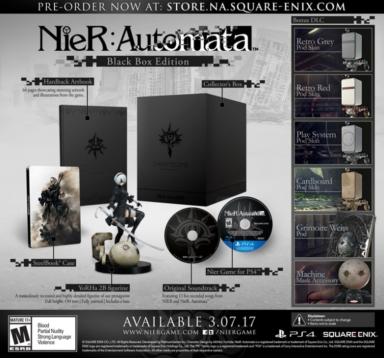 NieR:Automata Black Box Edition ニーア オートマタ スチールブック