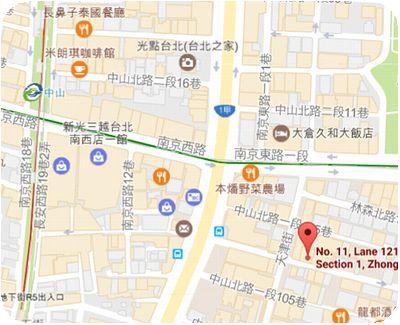 天津街米苔目地図