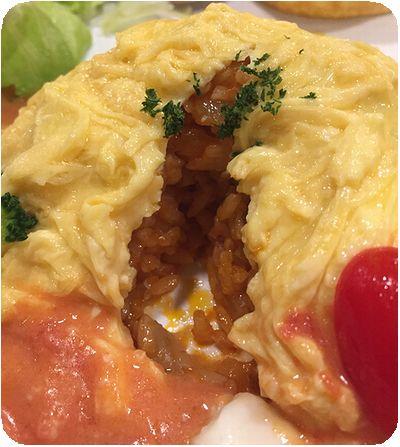 Mee's Cafeオムレツ中