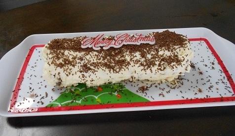 ニュージーランドのクリスマスデザート_チョコレートチップログ