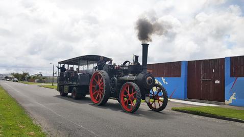 ニュージーランドFeildingの蒸気機関車基地オープンデー02
