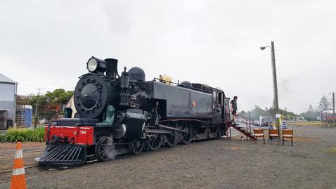 ニュージーランドFeildingの蒸気機関車基地オープンデー05