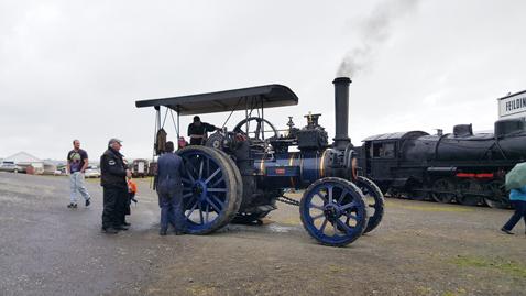 ニュージーランドFeildingの蒸気機関車基地オープンデー06