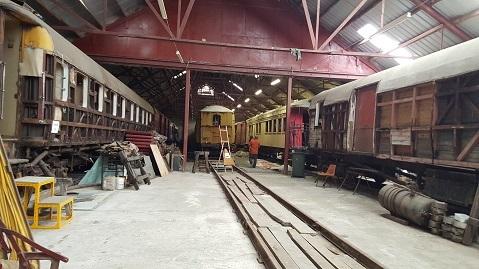 ニュージーランドFeildingの蒸気機関車基地オープンデー08