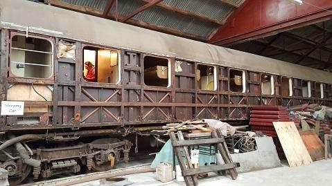 ニュージーランドFeildingの蒸気機関車基地オープンデー09
