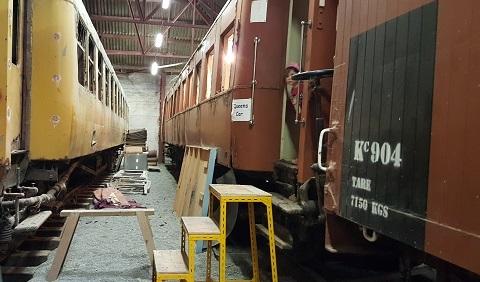 ニュージーランドFeildingの蒸気機関車基地オープンデー10