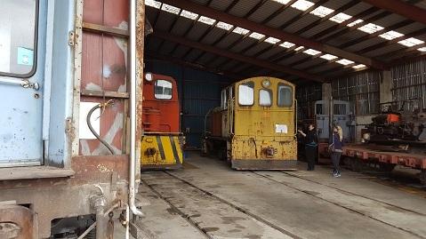 ニュージーランドFeildingの蒸気機関車基地オープンデー13